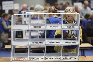 Počítanie hlasov v Belfaste.