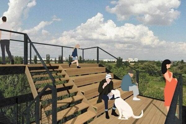 Projekt vyhliadkovej veže na Kamenáči.