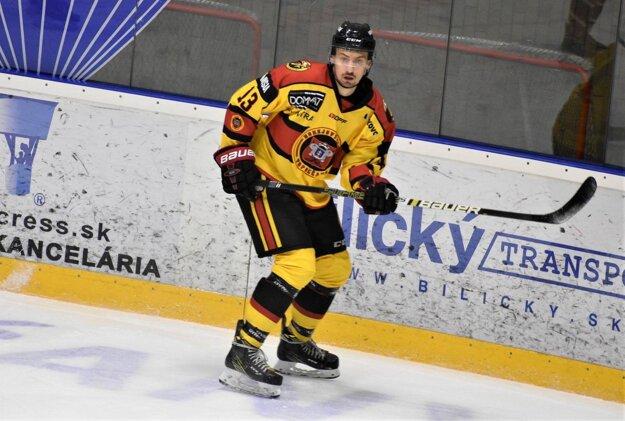 Dávid Gergel počas zápasu.