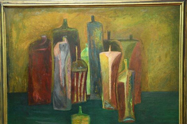 Obraz Ladislava Gandla (1919-1997) - Fľaše.