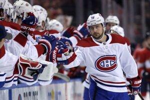 Tomáš Tatar (vpravo) v drese Montreal Canadiens.