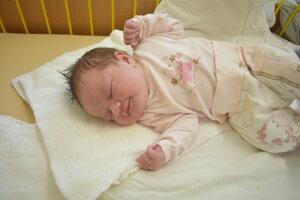 Tereza Krausková (4220 g, 52 cm) sa narodila 1. januára Vande a Jánovi z Cigľa.