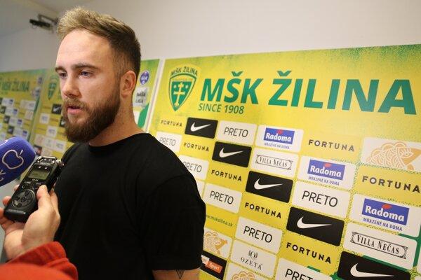 Dominik Holec, brankár MŠK Žilina.