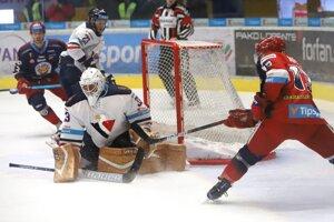 Momentka zo zápasu Zvolen - Slovan Bratislava.