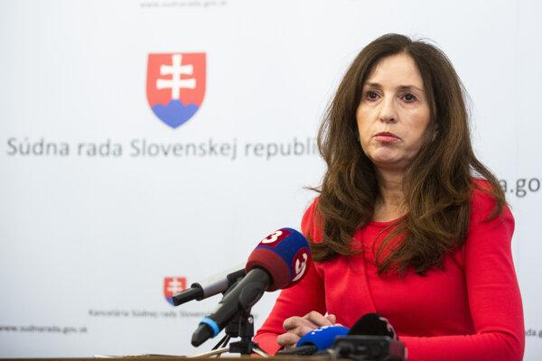 Predsedníčka Osobitnej komisie Súdnej rady SR Elena Berthotyová.