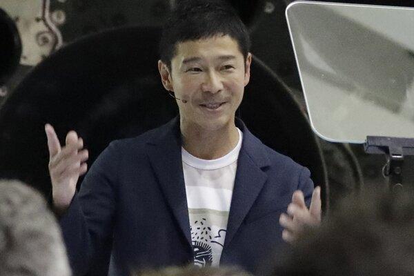 Japonský miliardár Jusaku Maezava.