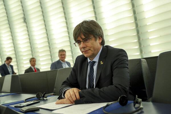Carles Puigdemont v Európskom parlamente.