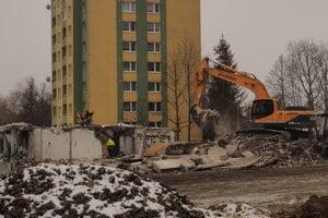 Asanačné práce prízemia budovy. (14.1.2020)
