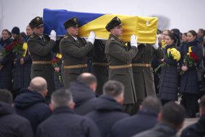 Do vlasti priviezli telá 11 Ukrajincov, ktorí zahynuli v lietadle zostrelenom iránskou armádou.