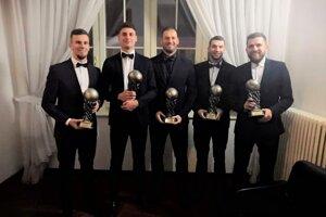 Zľava Tomáš Stašík, Martin Boďa, Pavol Šuhaj, Tibor Ďungel, Róbert Huszárik.