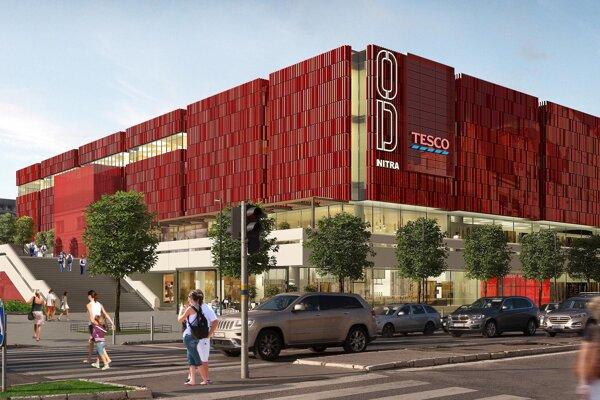 Takto má vyzerať vynovená fasáda obchodného domu.