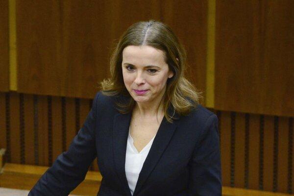 Zuzana Šebová, poslankyňa za stranu Sme rodina.