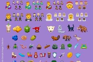 Návrhy emoji vytvorené stránkou emojipedia ukazujú, ako by mohli vyzerať nové symboly, ktoré sa do zariadení dostanú v roku 2020.