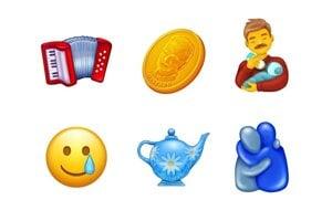 Niektoré z nových emoji pre rok 2020.