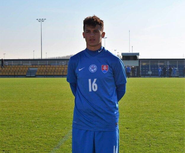 Marcel Masár v reprezentačnom drese.