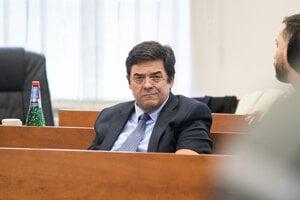 Marian Kočner na súde v Pezinku.