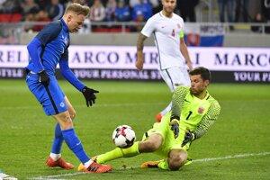Ondrej Duda na ilustračnej fotografii zo zápasu Slovensko - Nórsko.