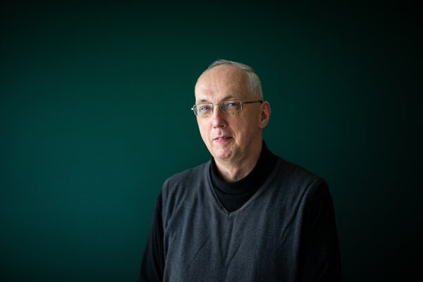 Matematik Zbyněk Kubáček z Katedry matematickej analýzy a numerickej matematiky na Fakulte matematiky, fyziky a informatiky UK.