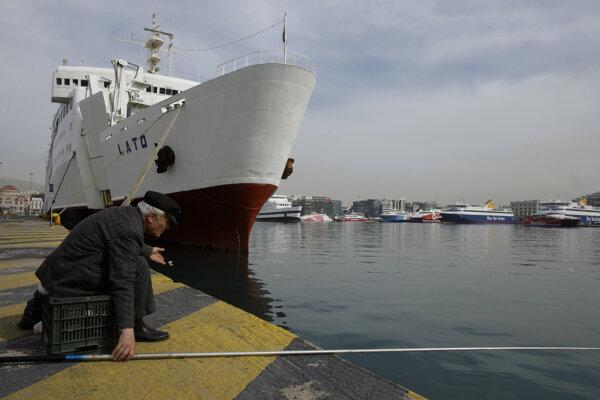 Grécky prístav Pireus, kde Čína výrazne investovala.