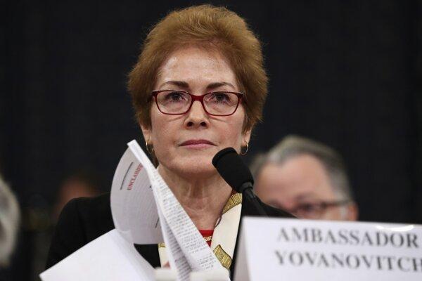 Bývalá veľvyslankyňa USA na Ukrajine Marie Yovanovitchová.