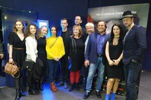 Na slávnostnú premiéru filmu vNitre prišli režiséri spolu sveľkou časťou hereckého tímu.