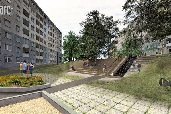 Štúdia revitalizácie vnútrobloku na Hájiku od architektonickéej kancelárie PS: arch.