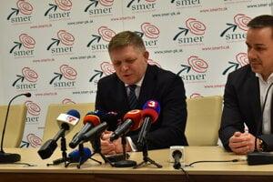 Robert Fico a Erik Tomáš.