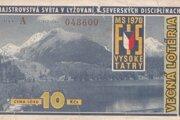 Žreb vecnej lotérie k MS 1970 vo Vysokých Tatrách.