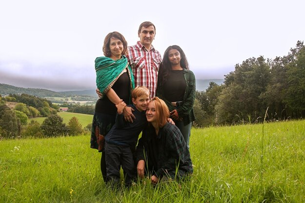 Juraj Hipš s rodinou.