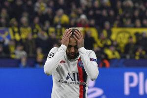 Neymar v osemfinále Ligy majstrov.