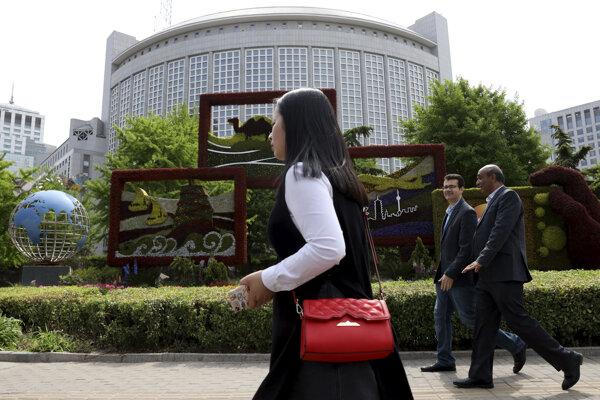 Čínske ministerstvo zahraničných vecí v Pekingu.