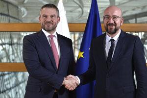 Charles Michel o rozpočte rokoval aj so slovenským premiérom Petrom Pellegrinim.
