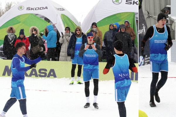 Z tretieho miesta sa tešili štyria 18-roční chalani - Bruno Pavličko, Michal Kilian, Michal Trubač a Pavel Ehrenwald.