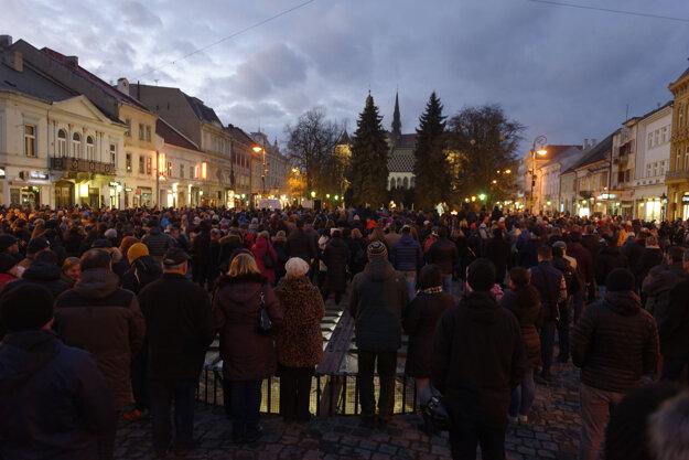 Zhromaždenie v Košiciach.