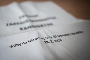 Parlamentné voľby sa na Slovensku budú konať v sobotu 29.2. 2020. Ilustračné foto