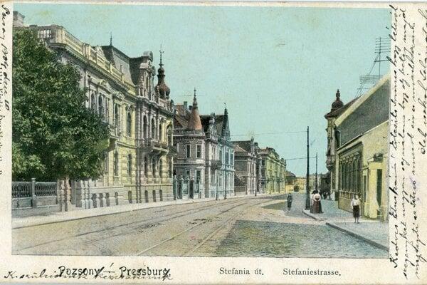 Štefánikova ulica v minulosti