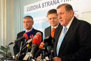 Ján Slota, Robert Fico a Vladimír Mečiar.
