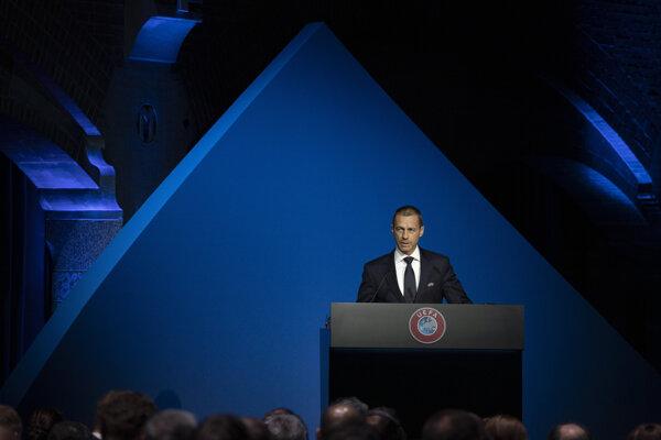 Prezident Európskej futbalovej únie Aleksander Čeferin.