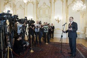 Voľby 2020: Predseda hnutia Sme rodina Boris Kollár počas prijatia v Prezidentskom paláci.