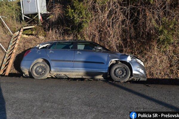 Podľa polície vodič neprispôsobil rýchlosť jazdy stavu a povahe vozovky a nezvládol riadenie.
