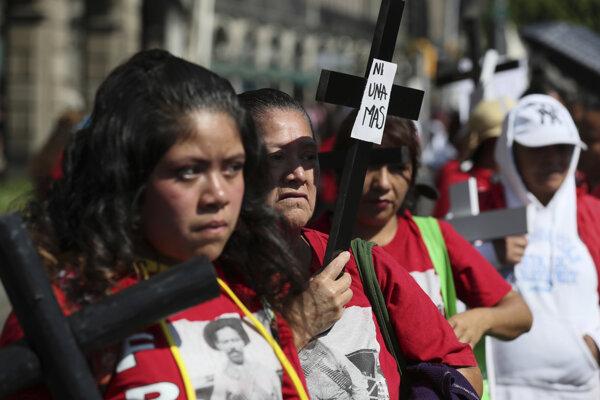 Protestujúce Mexičanky.