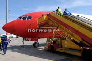 Lietadlo spoločnosti Norwegian Air.