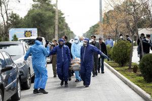Obeť koronavírusu v Teheráne