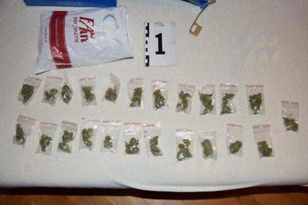 Zadržaná marihuana.