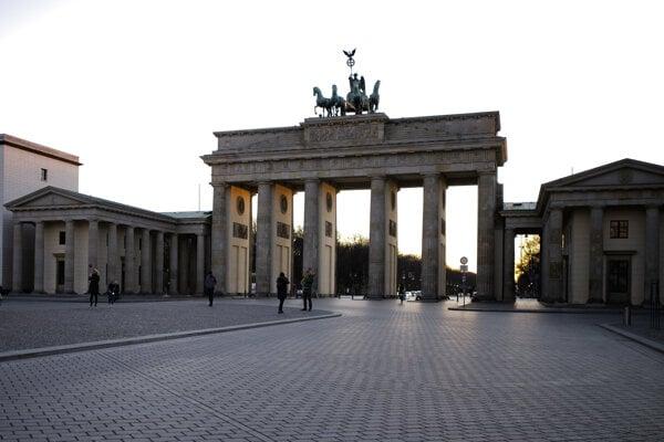 Vyľudnený Berlín.