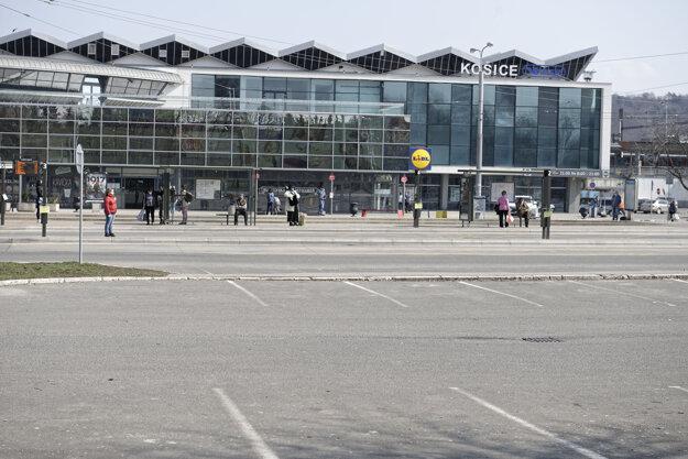 Okolie Železničnej stanice v Košiciach.