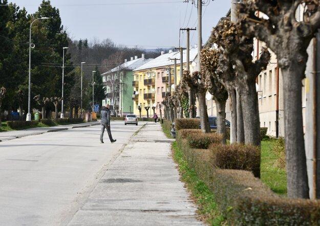 Atmosféra v uliciach mesta Stará Turá.