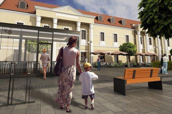 Projekt počítal aj s celoročnou terasou pri Špitáliku.