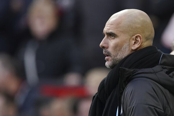 Tréner futbalistov Manchestru City Pep Guardiola.