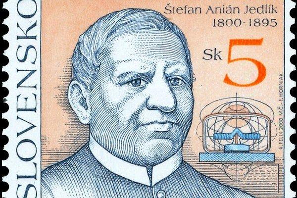 Vynálezca Jedlík dostal v roku 2000 vlastnú poštovú známku.